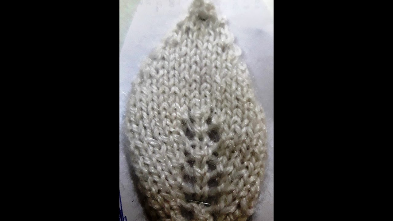 Make leaf / Leaves with knitting - simple and easy way of making leaf