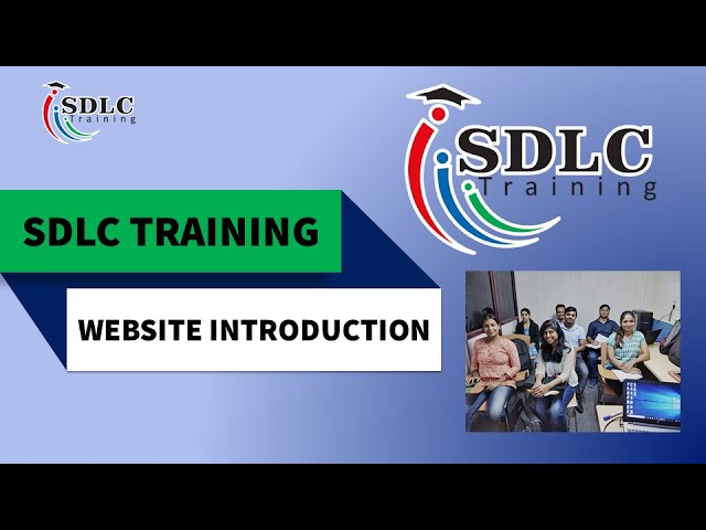 SDLC Training  website and Introduction