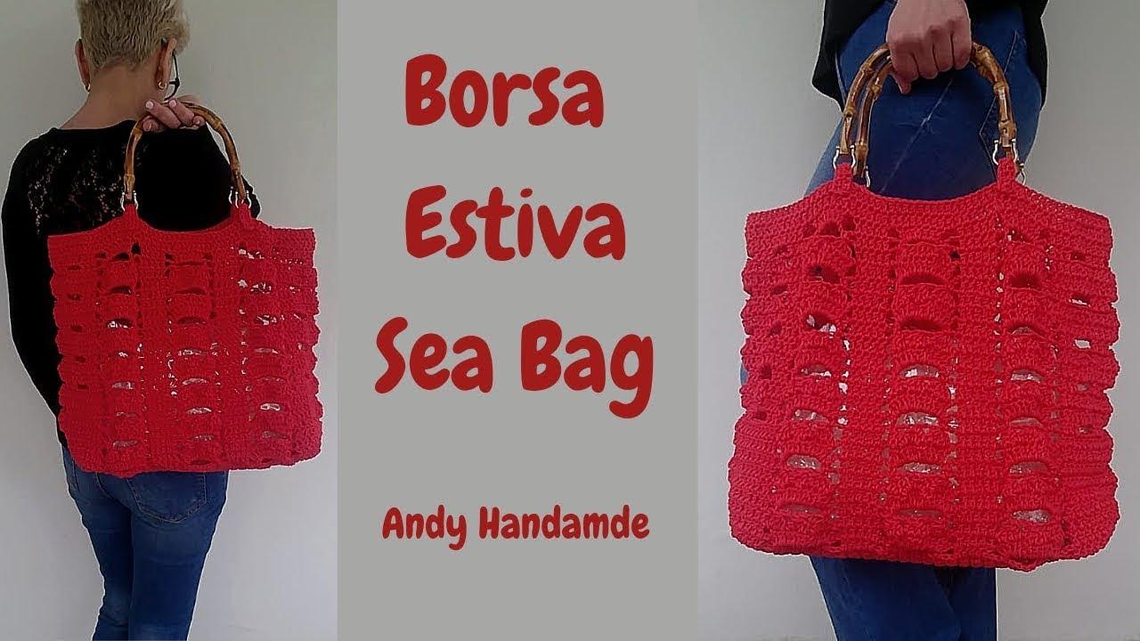 raccolto presa di fabbrica scarpe esclusive Borsa Estiva Sea Bag borsa mare uncinetto facile