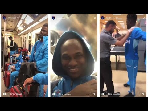 Marlon Samuels and Andre Fletcher very funny video  with fans after pak vs wi 3/4/2018 HD
