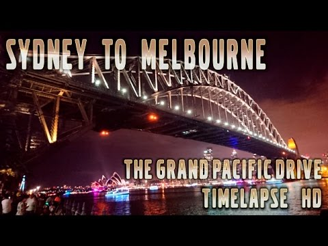 Sydney to Melbourne in 60 minutes via the Grand Pacific Drive Time-Lapse HD