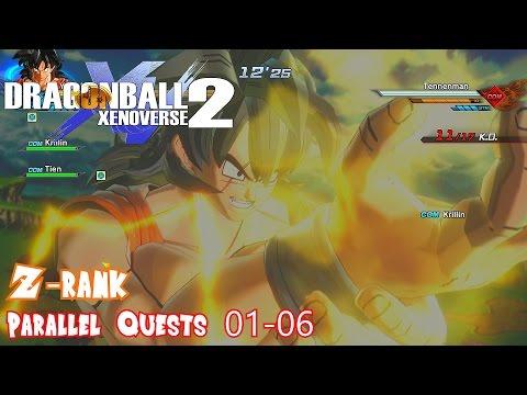 Dragon Ball Xenoverse 2 Z-Rank Walkthrough Parallel Quests 01-06 - Ultimate Finish