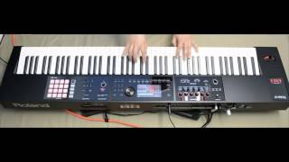 Roland fa08 fa06 synth workstation jamming on presets by s4k part 1 ( Space4Keys Keyboard Solo )
