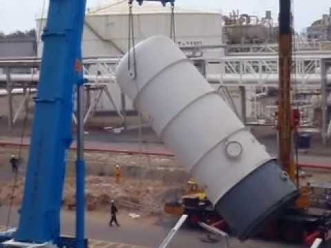 500t crane lifting vessel at kertih refinery part 2