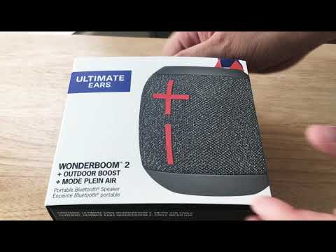 Ultimate Ears Wonderboom 2 Portable Bluetooth Speaker Unboxing 8-10-19