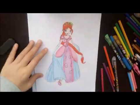 Winx Club Prenses Bloom Çizimi / How to draw Winx Club Princess Bloom