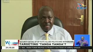 Security detail of DP Ruto allied politicians withdrawn