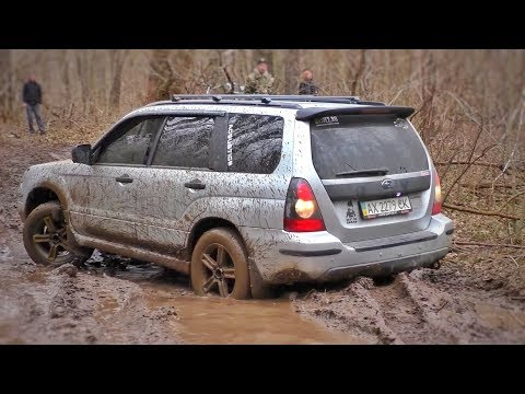 SUBARU FORESTER Is 'a Real 4wds' In Mud. Off-Road.