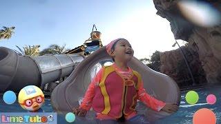 수영장에서 신나게 놀아보자! 라임이의 제주 롯데호텔 헬로키티 뽀로로 어린이 물놀이 LimeTube & Toy 라임튜브
