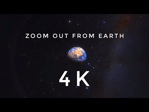 Zooming out from Earth (4K)