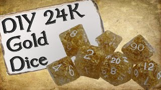 How to Make Your Own Dice Set | 24k Gold RPG Dice