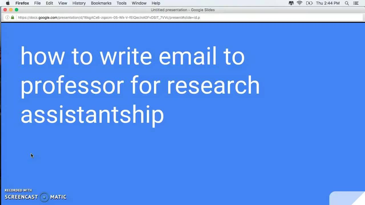 How To Write Email To Professor For Research Assistantship Youtube