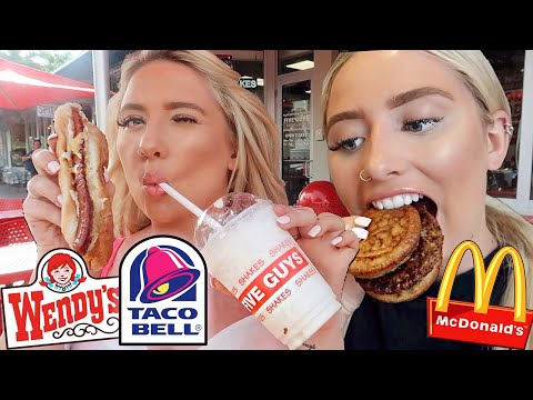 I only ate in AMERICAN FAST FOOD restaurants for 24hours..