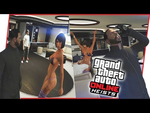 WHAT!? HE TOOK MY SEXY LADY FRIEND FROM ME! - GTA Online Heist Gameplay