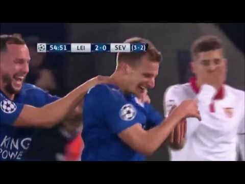 Gol De Marc Albrighton - Leicester vs Sevilla 2-0 - Champions League