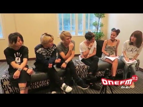 ONE OK ROCK Interview by OneFM 91.3 in Singapore  [Translated English / Japanese]