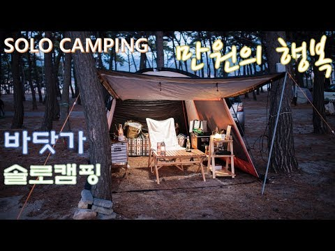 beach camping/캠핑/솔로캠핑/바닷가 캠핑장/힐링/오토캠핑/감성캠핑/solo camping/auto camping/キャンプ/オート・キャンプ