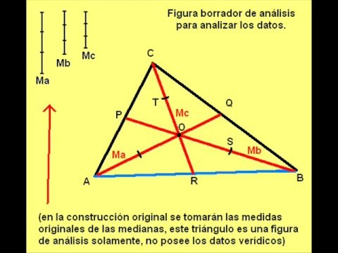 Como trazar la mediana de un triángulo