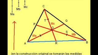 Construcciones Geométricas: Triangulo - 3 Medianas