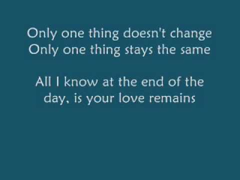 Paul Colman - The One Thing (with Lyrics)
