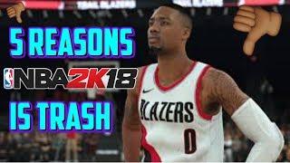 NBA 2K18 - 5 REASONS WHY NBA2k18 IS TRASH - MyCareer Playoffs Gameplay