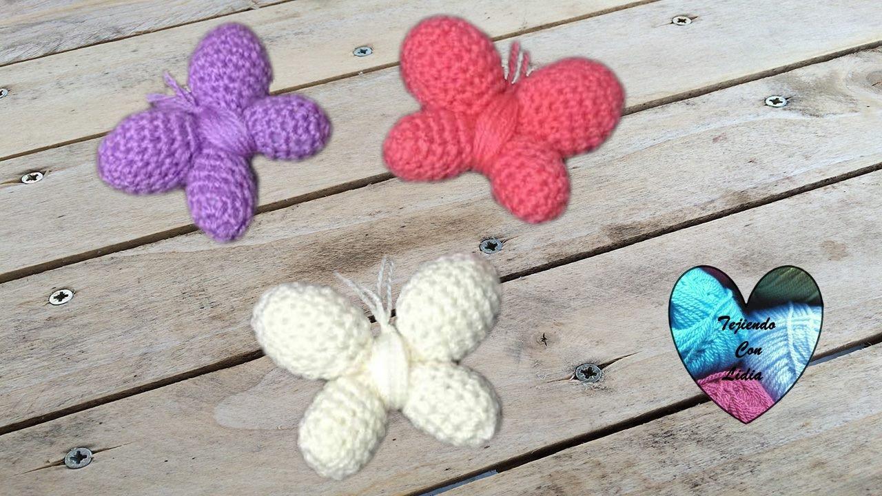 Mariposas tejidas a crochet crochet Amigurumi muy fácil !!! - YouTube
