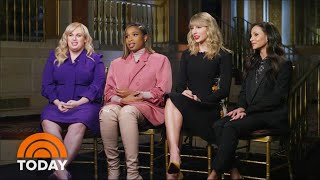 "Cats"" stars Taylor Swift, Jennifer Hudson, Rebel Wilson and Francesca Hayward tell TODAY's Hoda Kotb secrets from the set of the movie musical – like the ..."