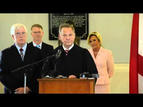 Alabama Chief Justice Roy Moore responds to complaints over Marriage Protection Acts