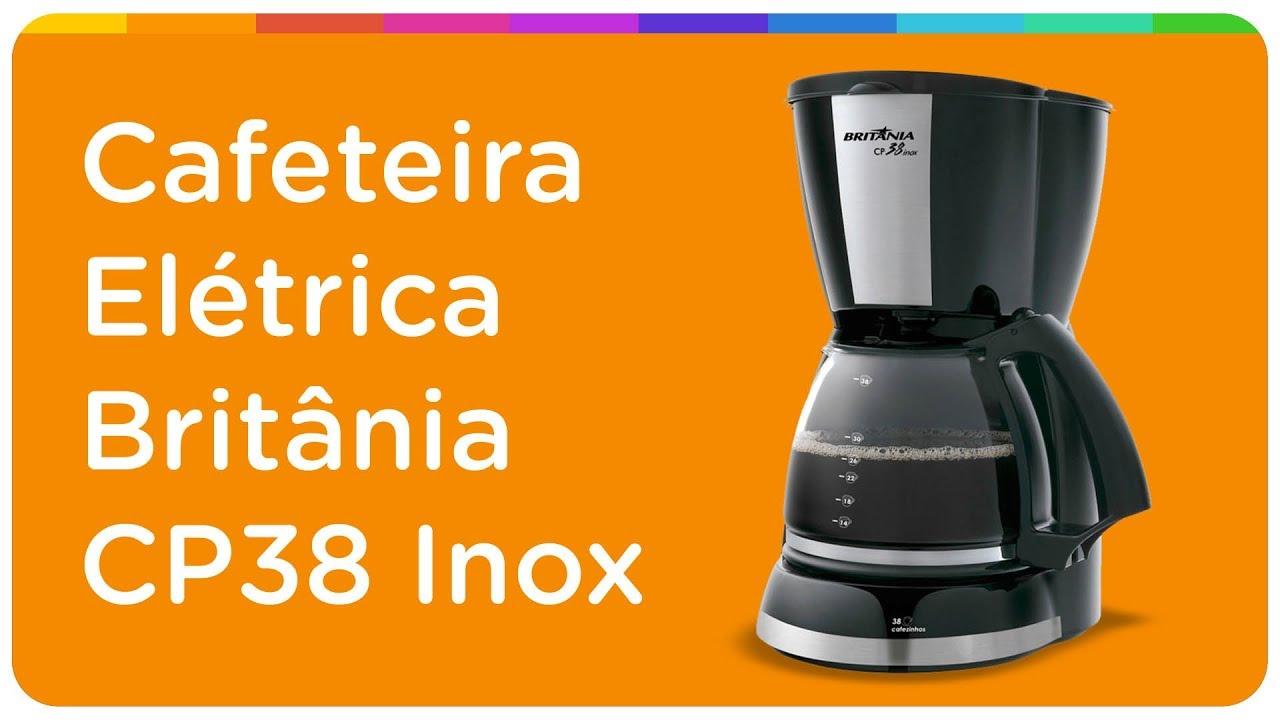 Cafeteira Elétrica Britânia CP38 Inox 38 Xícaras - Preto - Claro Promo -  Mobile