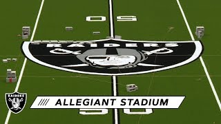 First Look at Raiders Midfield Logo in Allegiant Stadium | Las Vegas Raiders