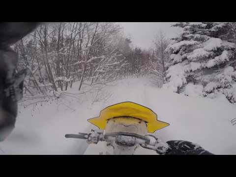 Ski Doo Tundra 600 ACE LT 2017 In Newfoundland 2 1/2 Feet Of Fresh Snow