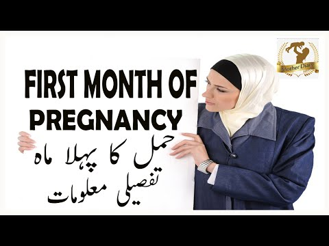 First Month Pregnancy, Symptoms  ,Care,Fetal Development ,And Foods to Eat $ Avoid  حمل کا پہلا مہنہ