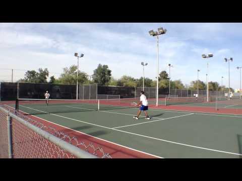 Vincent Memorial Catholic High vs. Central Union High, boys' tennis