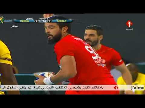 Tunisie & Angola 1/2 coupe d'afrique Hand ball Gabon 2018 تونس & أنغولا كرة يد