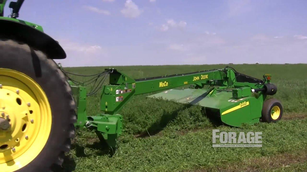 Hay mower demonstration at Regancrest Holsteins Inc