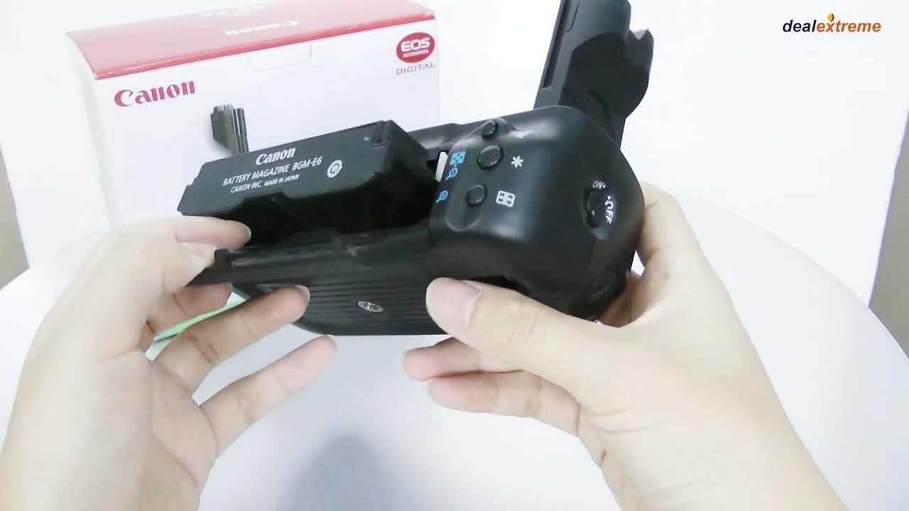 Canon bg e6 battery grip manual.