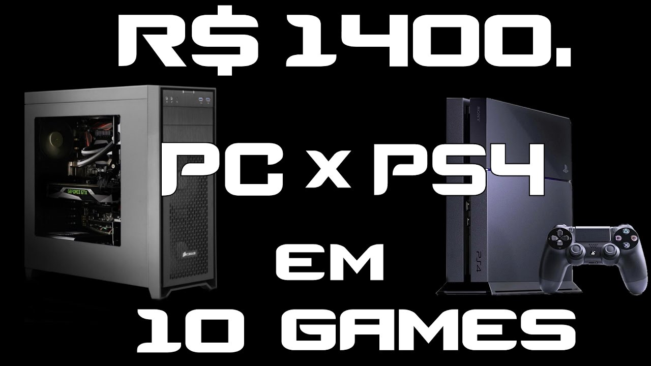 r 1400 pc gamer baratinho ou ps4 testes em watch dogs 2 9 games recentes youtube. Black Bedroom Furniture Sets. Home Design Ideas