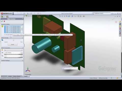 SOLIDWORKS Simulation - Using Mesh Controls to Solve Mesh Failures