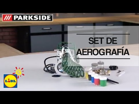 lidl airbrush set parkside pabk 60b2 im test review doovi. Black Bedroom Furniture Sets. Home Design Ideas