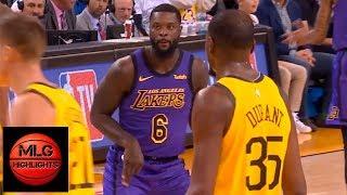 Lance Stephenson trolls KD & shows his guitar celebration | Lakers vs Warriors