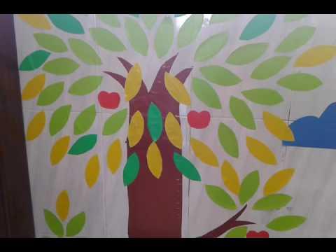 Kreasi menghias kelas dengan membuat pohon dari kertas