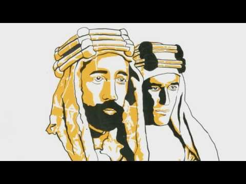 TE Lawrence, Emir Faisal, Auda abu Tayi, and The Arab Revolt