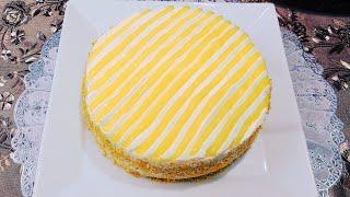 Мягкий и вкусный торт Как приготовить Лимонный торт Нежный торт в домашних условиях