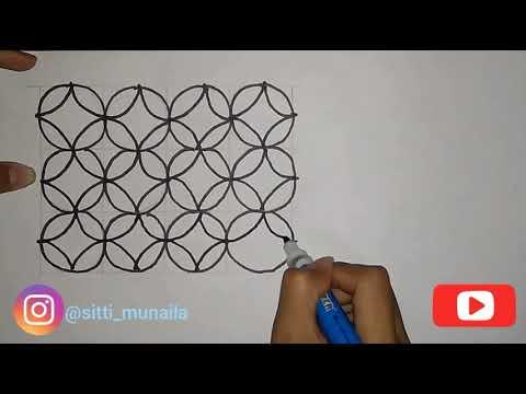 Tutorial Menggambar Batik Kawung Untuk Pemula Youtube