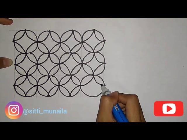 Tutorial Menggambar Batik Kawung Untuk Pemula By St Munaila Channel