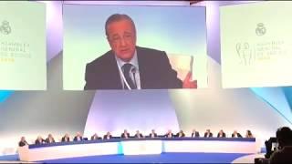 FANS RMCF- Florentino Pérez, sobre la Grada FANS en la Asamblea General de Socios