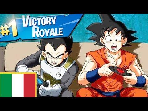 Goku e Vegeta *GIOCANO* a Fortnite - ITA (FactyKillian)