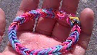 Repeat youtube video tutorial para hacer pulseras con gomitas elásticas del pelo o ligas (sin telar)