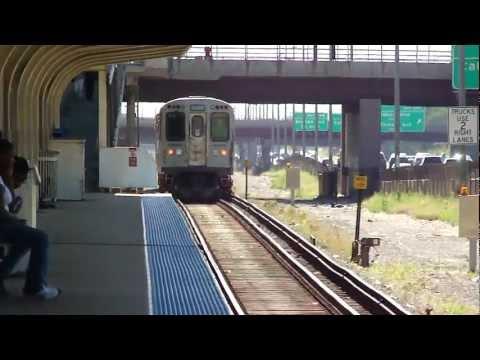 "CTA Transit:1969/1981 Budd Company 2200/2600 Series ""L"" Blue Line Trains at Illnois Medical District"