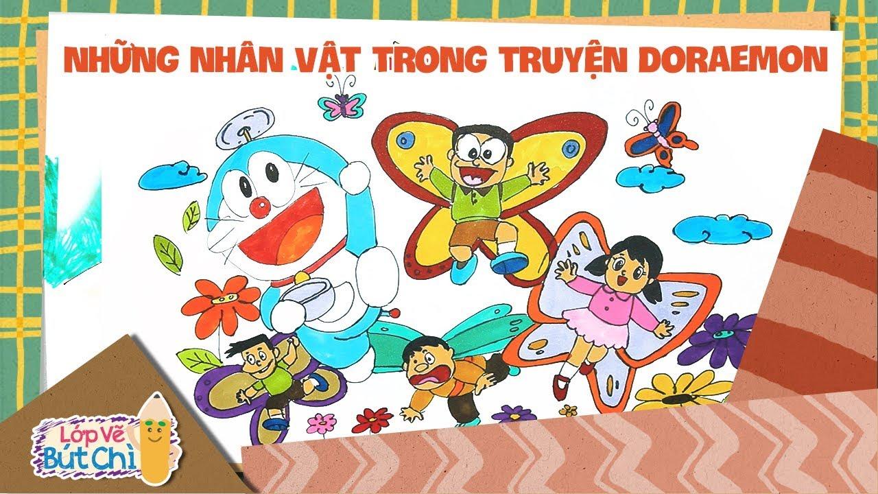 Vẽ Những Nhân Vật Trong Truyện Doraemon | Lớp Vẽ Bút Chì | Hi Pencil Studio